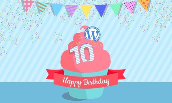 WordPress 10周年信息图