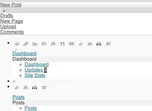 wordpress十大常见错误之二:管理面板显示错乱