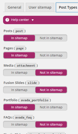 post sitemap