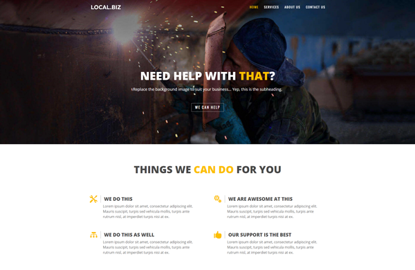 DIVI:小企业网站布局包